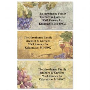 Grand Vineyard  Border Address Labels  (3 Designs)
