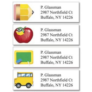 School Fun Classic Address Labels  (4 Designs)