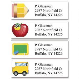 School Fun Classic Address Labels  (4 Designs)