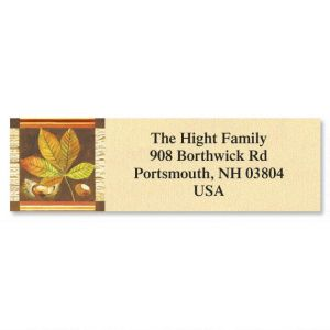 Fall Leaves Classic Address Labels  (6 Designs)