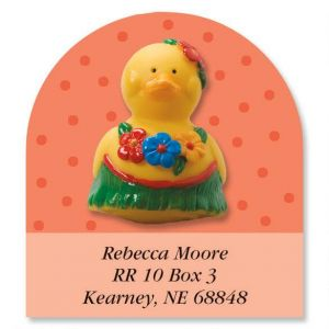Rubber Duckies Year-Round Diecut Address Labels  (12 Designs)