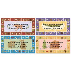 Lodge Border Address Labels  (4 Designs)