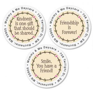 Smile Round Address Labels   (3 Designs)