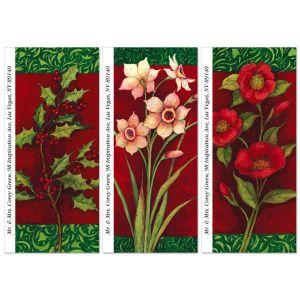 Christmas Floral Supersized Address Labels  (3 Designs)