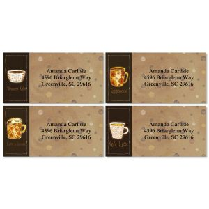 Coffee House Border Address Labels  (4 Designs)