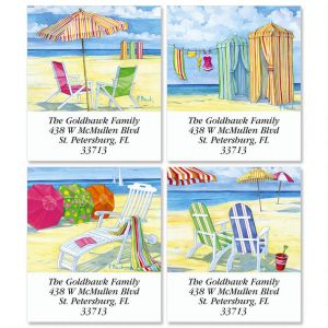 Beachside Select Address Labels  (4 Designs)