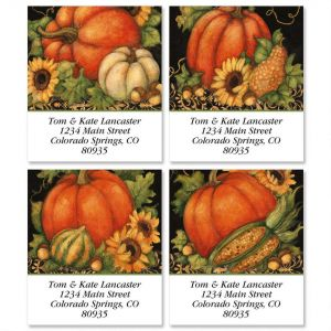 Pumpkin Harvest Select Return Address Labels  (4 Designs)