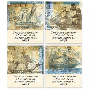 Sailing Ships Select Address Labels  (4 Designs)