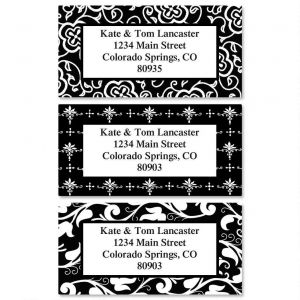 Black Elegance Border Address Labels  (3 Designs)