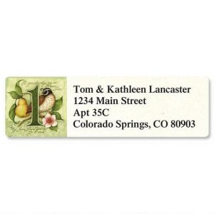 12 Days Classic Address Labels  (12 Designs)