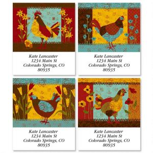 Calico Chicken Select Address Labels  (4 Designs)
