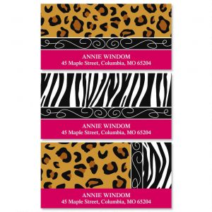 Chic Print Deluxe Address Labels  (3 Designs)