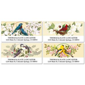 Birds & Blossoms Deluxe Address Labels  (4 Designs)