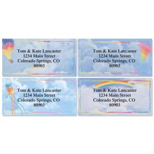 Bright Skies Border Address Labels  (4 Designs)