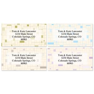 Gridlock Border Address Labels  (4 Designs)