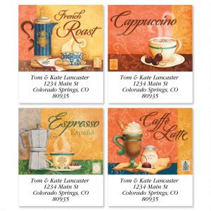 Coffee House Select Address Labels  (4 Designs)