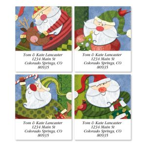 Santa Flurries Select Address Labels  (4 Designs)