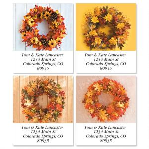 Autumn Wreath Select Address Labels  (4 Designs)