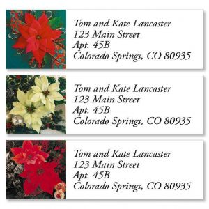 Poinsettia II Classic Address Labels  (3 Designs)