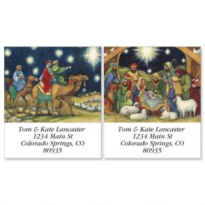 Nativity Scene Select Address Labels  (2 Designs)