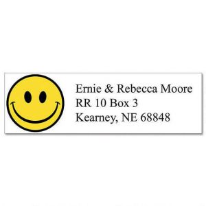 Happy Faces Classic Address Labels  (6 Designs)