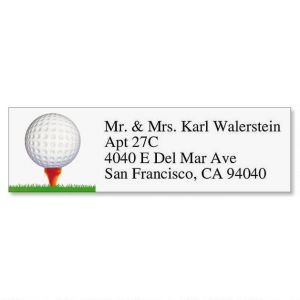 FORE!  Classic Address Labels  (6 Designs)