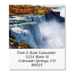 Top Ten Waterfalls  Select Address Labels  (10 Designs)
