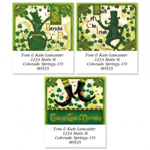 St. Patrick';s Day Select Address Labels  (3 Designs)