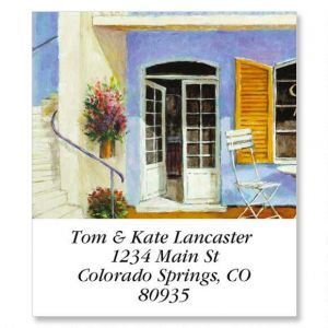 Sidewalk Cafe Select Address Labels  (6 Designs)