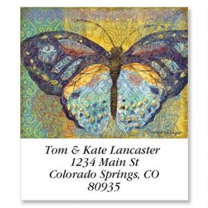 Elaborate Butterflies Select Address Labels  (6 Designs)