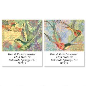 Hummingbird Dance Select Address Labels  (2 Designs)