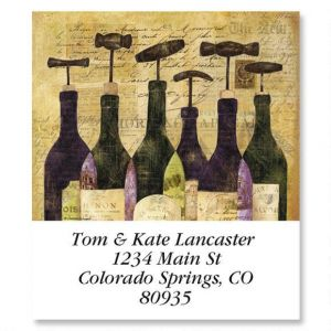 Wine Bottles Select Address Labels  (6 Designs)