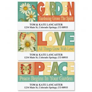 Dusty Blue & Daisies Deluxe Address Labels  (3 Designs)