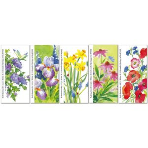 Floral Color Oversized Address Labels  (5 Designs)