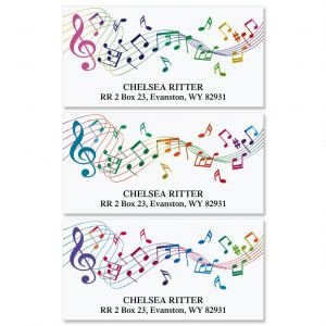 Musical  Deluxe Address Labels  (3 Designs)