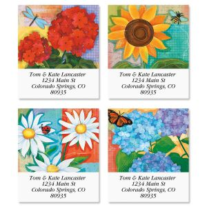 Festive Florals Select Address Labels  (4 Designs)