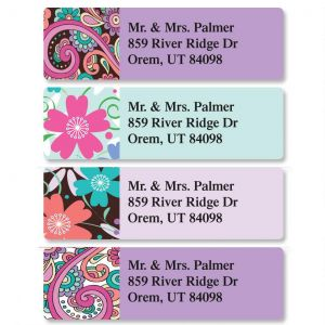 Floral Paisley Classic Address Labels  (4 Designs)