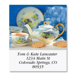 Serving Tea Select Address Labels  (12 Designs)