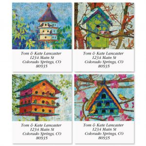 Birdhouse Village Select Address Labels  (4 Designs)