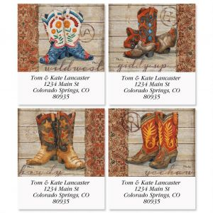 Wild West Select Address Labels  (4 Designs)