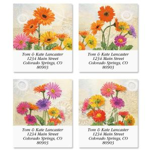 Gerbera Select Address Labels  (4 Designs)