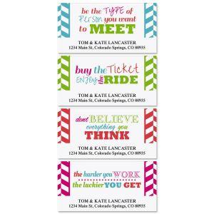 Happy Colors Deluxe Address Labels  (4 Designs)