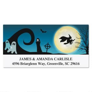 Spooky Scenes Deluxe Address Labels  (4 Designs)