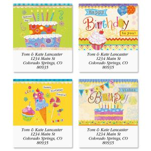 Birthday Sweets Select Return Address Labels  (4 Designs)