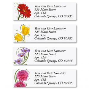 Floral Whispers Classic Return Address Labels  (4 Designs)