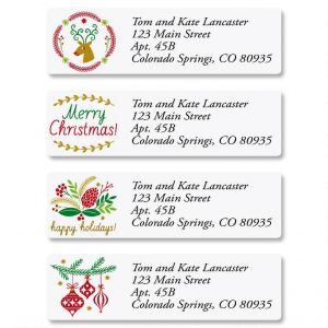 Salutations Classic Address Labels  (4 Designs)