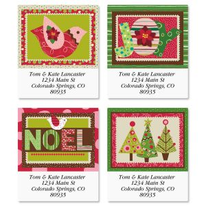 Modern Noel Select Address Labels  (4 Designs)
