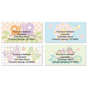 Springtime Border Address Labels  (4 Designs)
