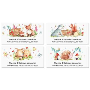 Woodland Animals Deluxe Address Labels  (4 Designs)