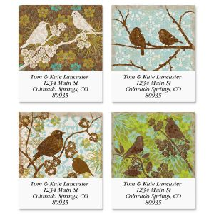 Tapestry Birds Select Address Labels  (4 Designs)